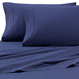 Heartland® HomeGrown™ 325-Thread-Count Cotton Percale Queen Fitted Sheet in Navy