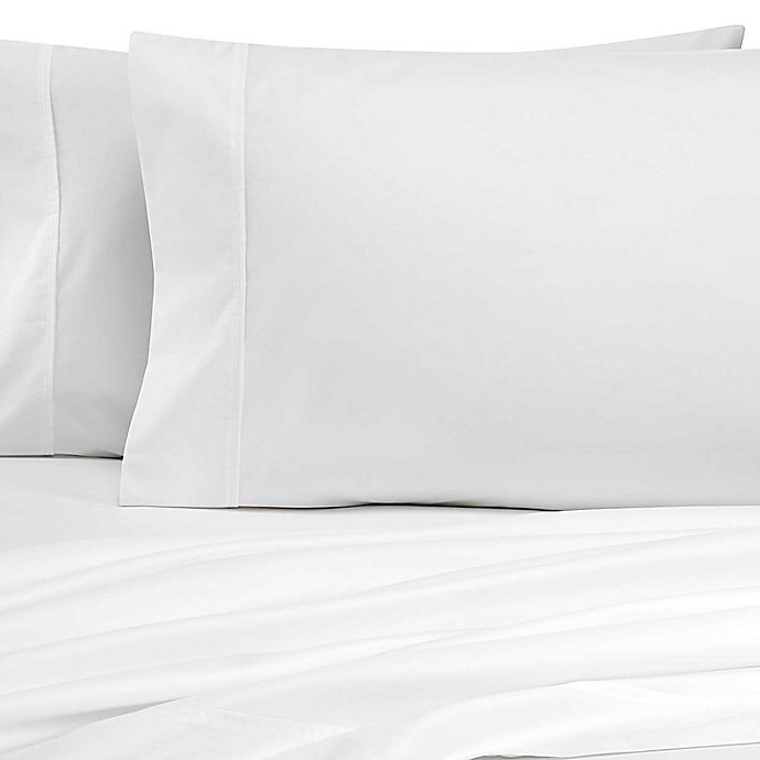 Alternate image 1 for Heartland® HomeGrown™ 325 TC Cotton Percale Twin XL Fitted Sheet in White