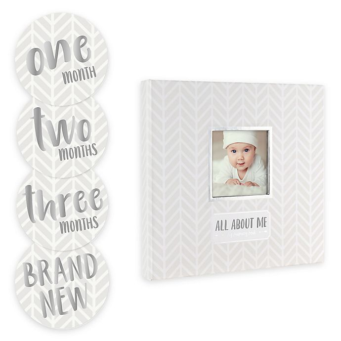 Alternate image 1 for Pearhead Baby's Memory Book and Sticker Set