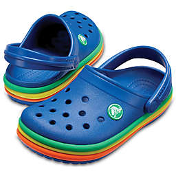 Crocs™ Rainbow Band Classic Clog in Blue