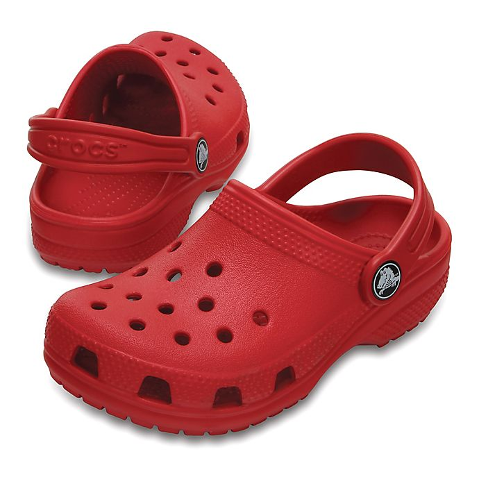 Alternate image 1 for Crocs™ Kids' Classic Clog in Red