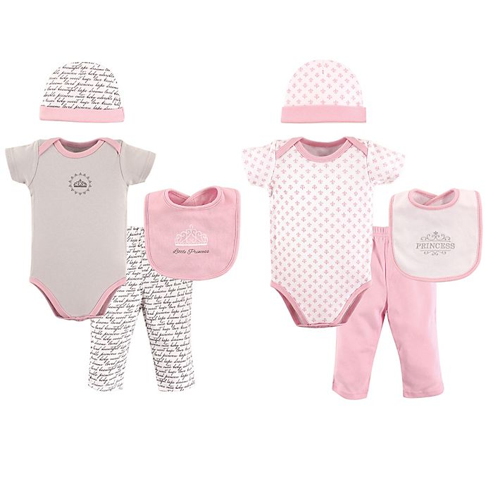 Alternate image 1 for Hudson Baby® 8-Piece Princess Layette Set in Pink