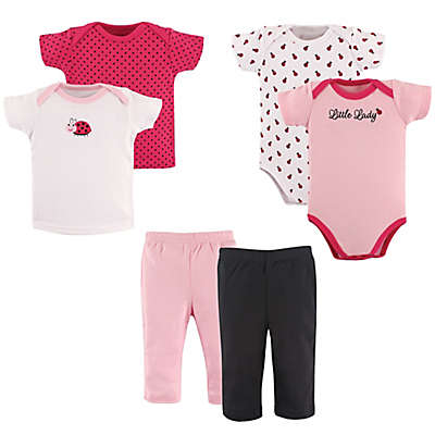 Hudson Baby® 6-Piece Ladybug Layette Gift Set in Pink/Red