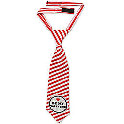 "Tiny Treasures ""Be My Valentine"" Neck Tie in Red/White"