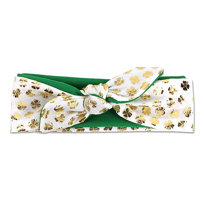 Alternate image 1 for Tiny Treasures St. Patty's Headband in Green/Gold