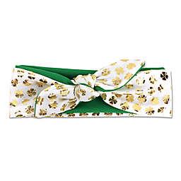 Tiny Treasures St. Patty's Headband in Green/Gold