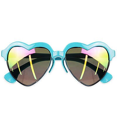 Tiny Treasures Heart Toddler Sunglasses in Turquoise