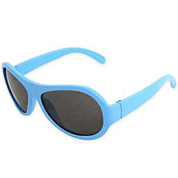 Tiny Treasures Aviator Toddler Sunglasses in Light Blue