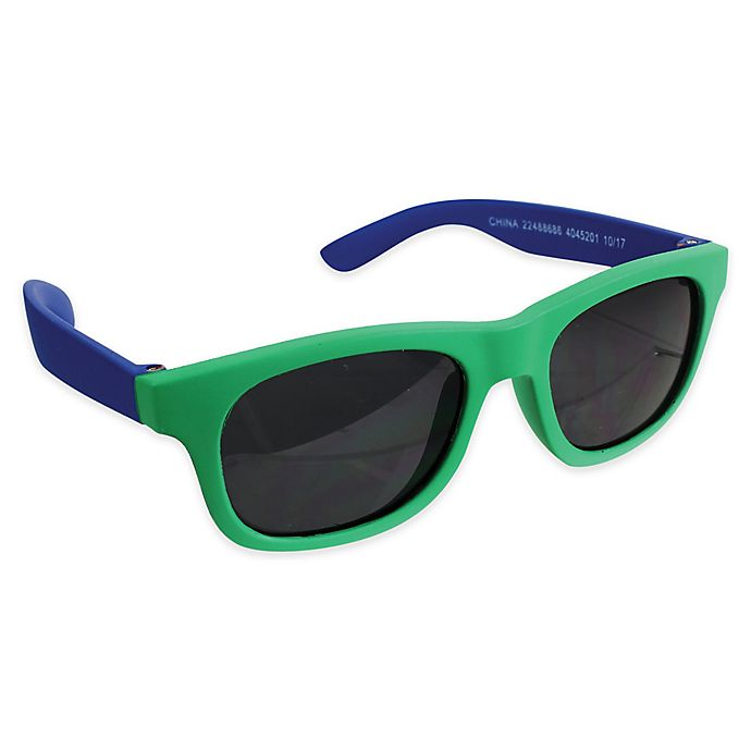 Alternate image 1 for Tiny Treasures Toddler Sunglasses in Green/Blue
