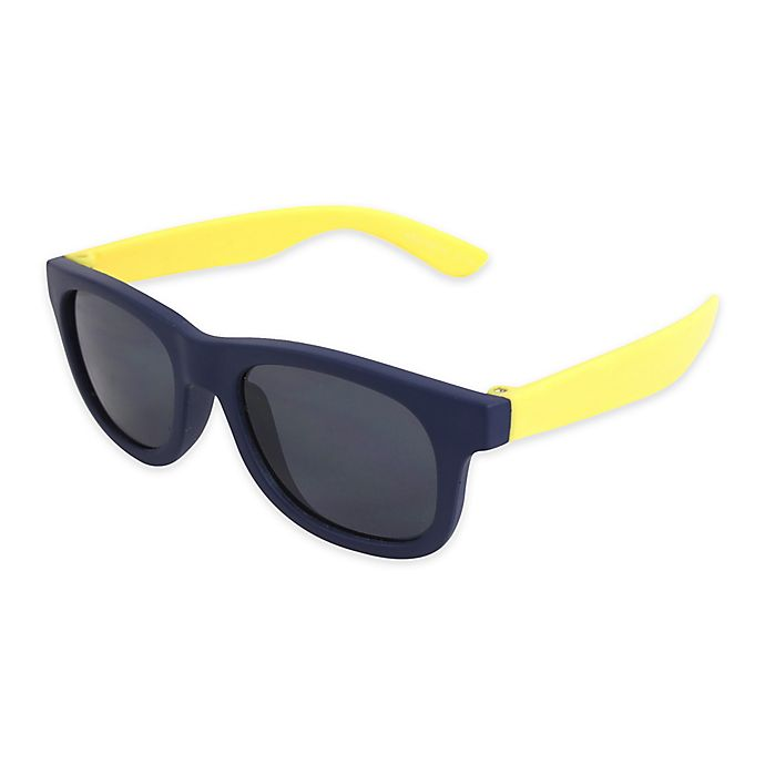Alternate image 1 for Tiny Treasures Toddler Sunglasses in Blue/Yellow