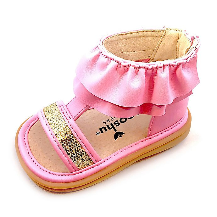 Alternate image 1 for Mooshu Trainers® Lucy Ruffle Sandal in Pink