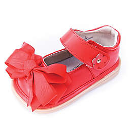Mooshu Trainers Ready Set Bow Mary Jane Shoe in Red
