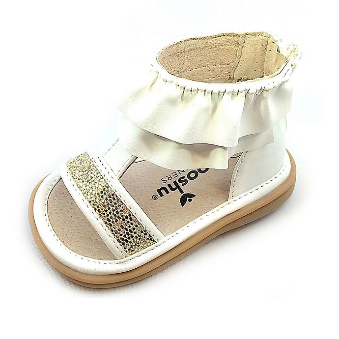 Alternate image 1 for Mooshu Trainers® Size 5 Lucy Ruffle Sandal in White