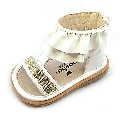 Mooshu Trainers® Lucy Ruffle Sandal in White