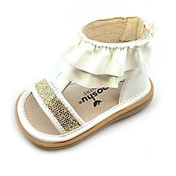 Mooshu Trainers® Size 8 Lucy Ruffle Sandal in White