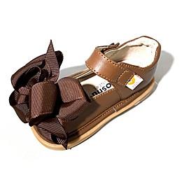 Mooshu Trainers Ready Set Bow Mary Jane Shoe in Chocolate