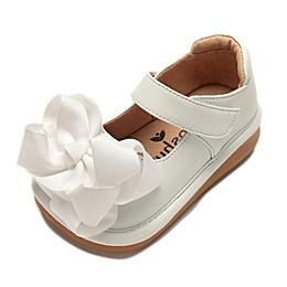 Mooshu Trainers Ready Set Bow Mary Jane Shoe in White