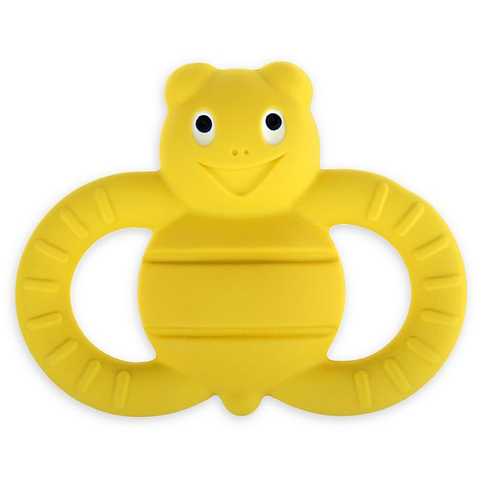 Alternate image 1 for MAM Friends Bee Natural Rubber Teether in Yellow