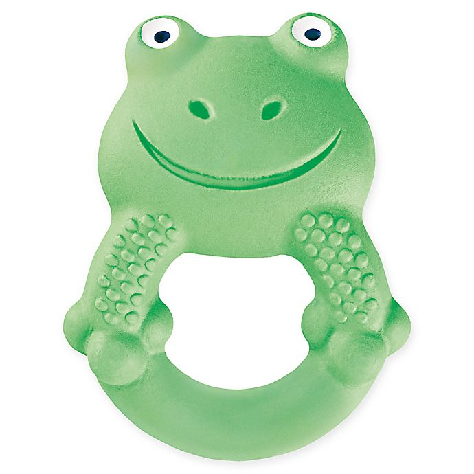 Alternate image 1 for MAM Friends Frog Natural Rubber Teether in Green