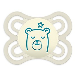 MAM Perfect Night Glow Orthodontic Size 0-6 Months Pacifier in Clear