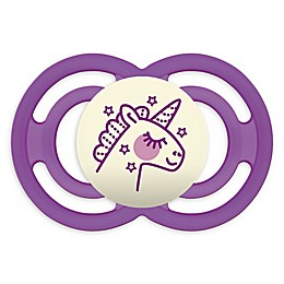 MAM Perfect Night Glow Orthodontic Size 6+ Months Pacifier in Purple