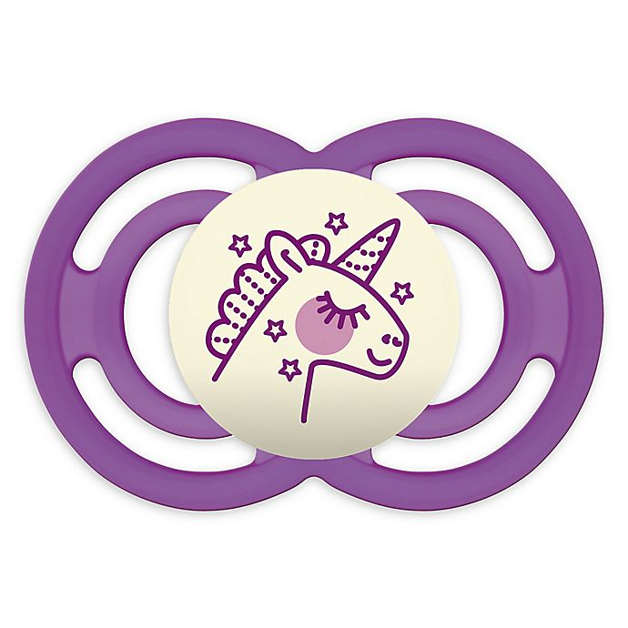 Alternate image 1 for MAM Perfect Night Glow Orthodontic Size 6+ Months Pacifier in Purple