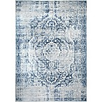 Home Dynamix Kenmare by Nicole Miller Medallion 2'7.5  x 3'11  Accent Rug in Grey/Blue