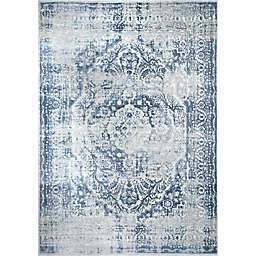 Nicole Miller Kenmare Medallion Area Rug in Grey/Blue