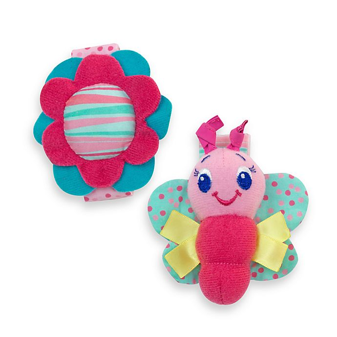 Alternate image 1 for Bright Starts™ Pretty in Pink™Rattle Me Bracelets™