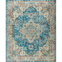 "Parlin by Nicole Miller Medallion 9'2"" x 12'5"" Area Rug in Blue/Grey"