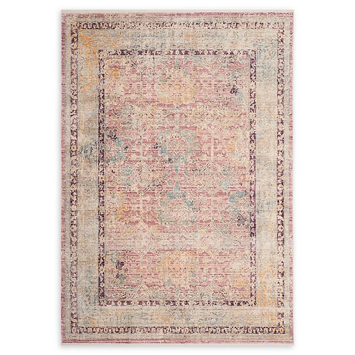 Alternate image 1 for Safavieh Illusion 6' x 9' Chauray Rug in Rose