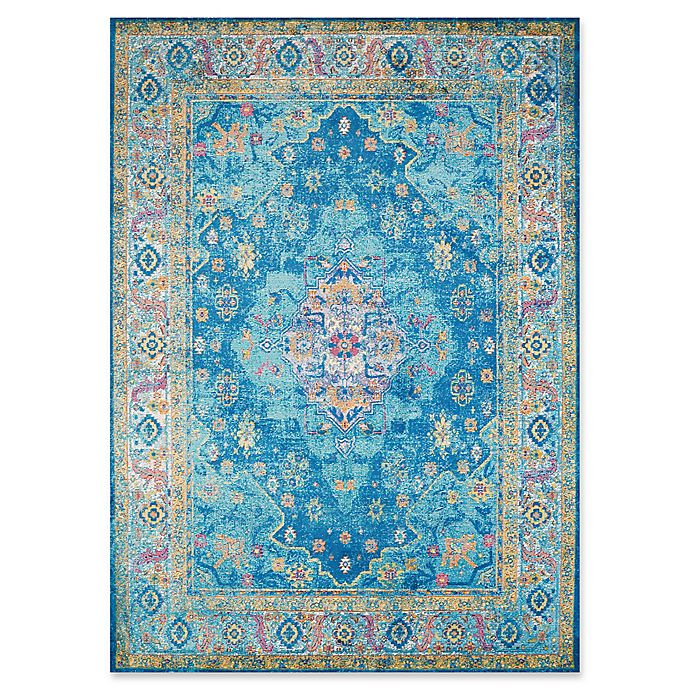 Alternate image 1 for United Weavers Rhapsody Bromley Tufted 2' x 8' Accent Rug in Cerulean