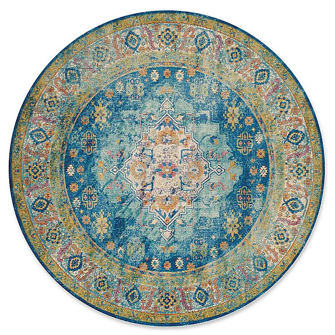 Alternate image 1 for United Weavers Rhapsody Bromley Tufted 8'x 8' Area Rug in Cerulean