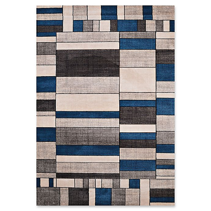 Alternate image 1 for United Weavers Contours Echelon Tufted Accent Rug in Denim Blue