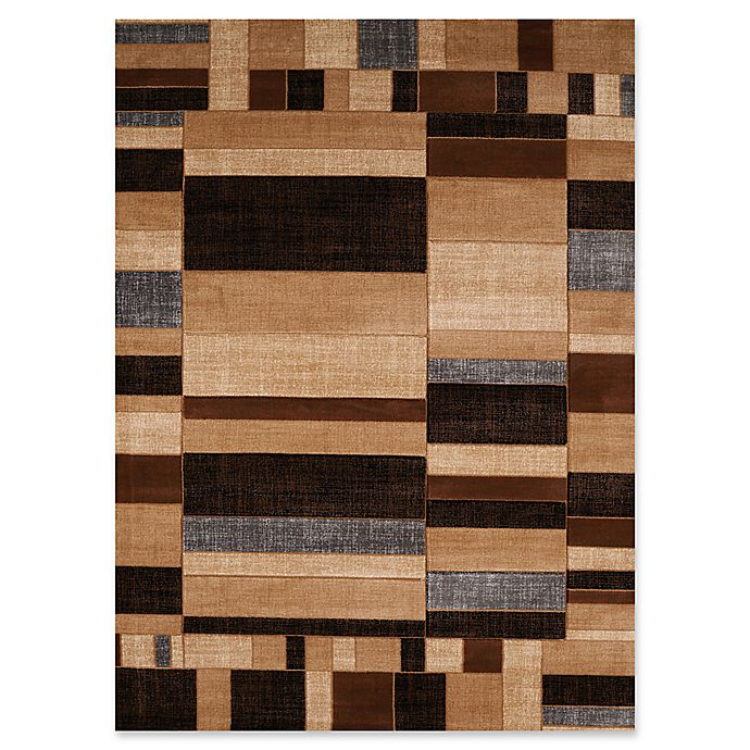 Alternate image 1 for United Weavers Contours Echelon Tufted Accent Rug in Toffee
