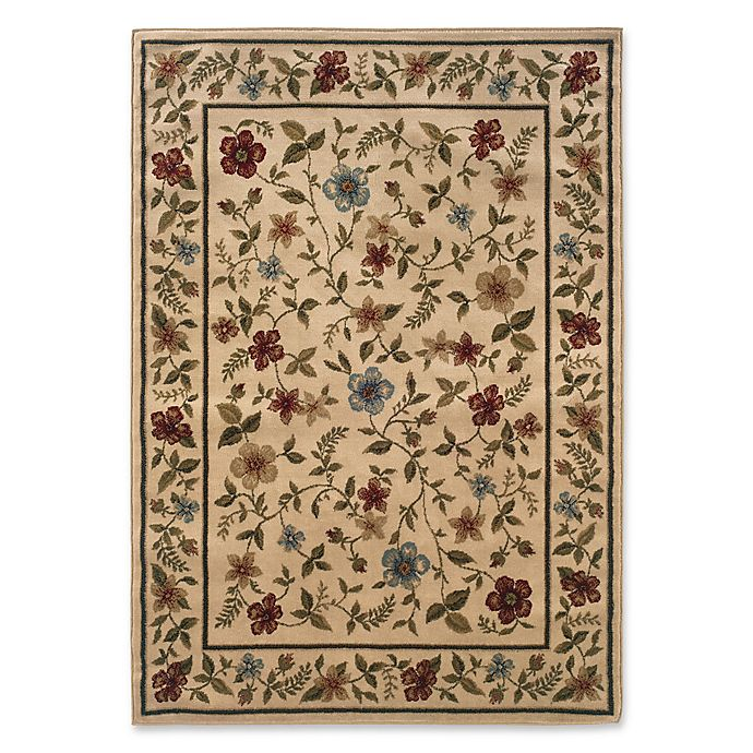 Alternate image 1 for Amaya Rugs Chapman Framed Floral 5' x 7'3 Area Rug in Ivory