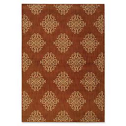 Oriental Weavers Kasbah Damask Rug in Orange