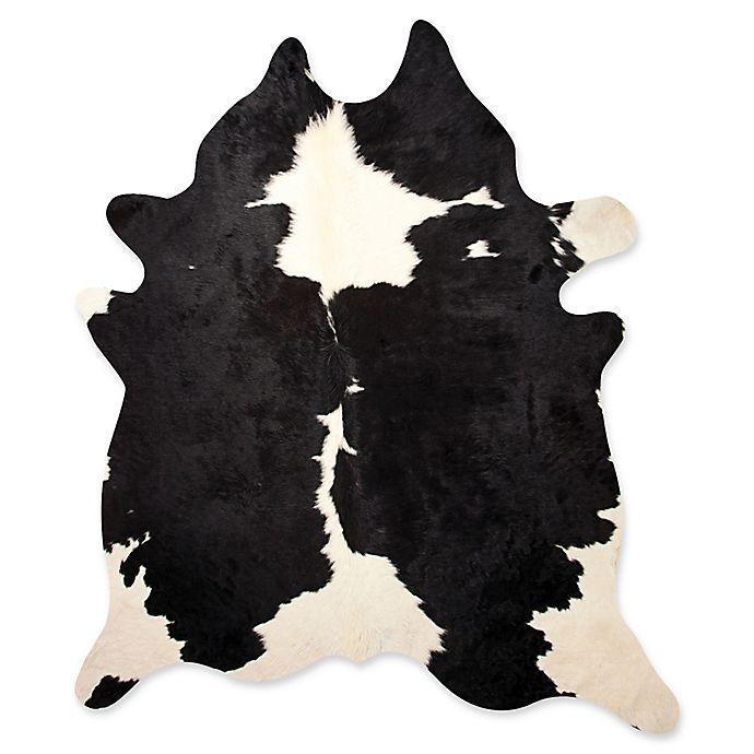 Alternate image 1 for Kobe Cowhide 5' x 7' Area Rug in Black/White