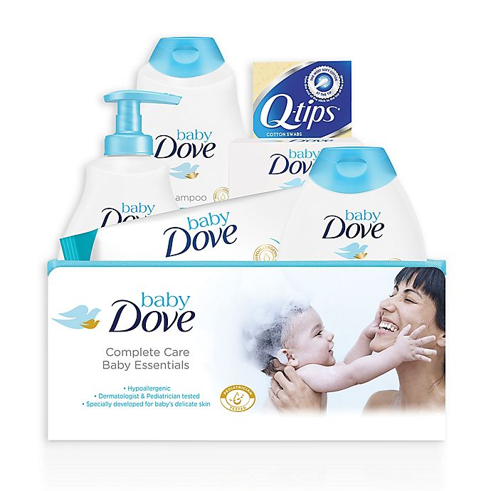 Alternate image 1 for Baby Dove 6-Piece Complete Care Bath Time Essentials Gift Set