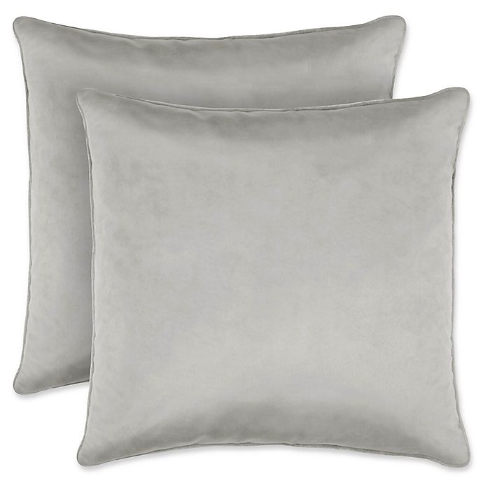 Alternate image 1 for Laura Ashley Lucas Collection Throw Pillow in Silver (Set of 2)