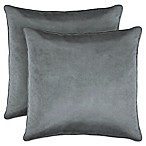Laura Ashley Lucas Collection Throw Pillow in Grey (Set of 2)
