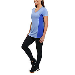 Copperfit Compression Side Panel Small V-Neck T-Shirt in Blue