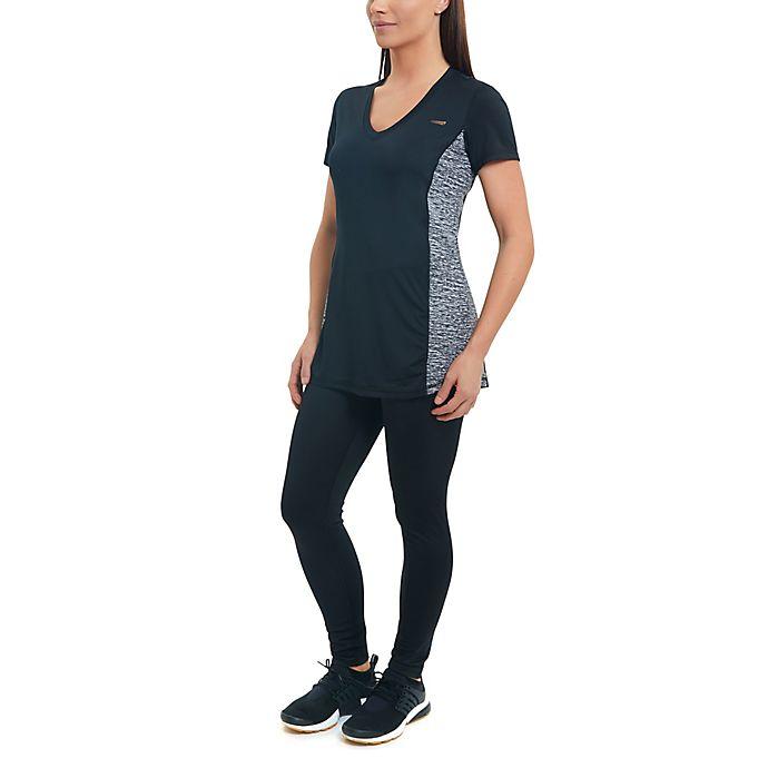 Alternate image 1 for Copperfit Compression Side Panel Large V-Neck T-Shirt in Black