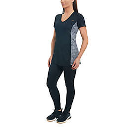 Copperfit Compression Side Panel Small V-Neck T-Shirt in Grey