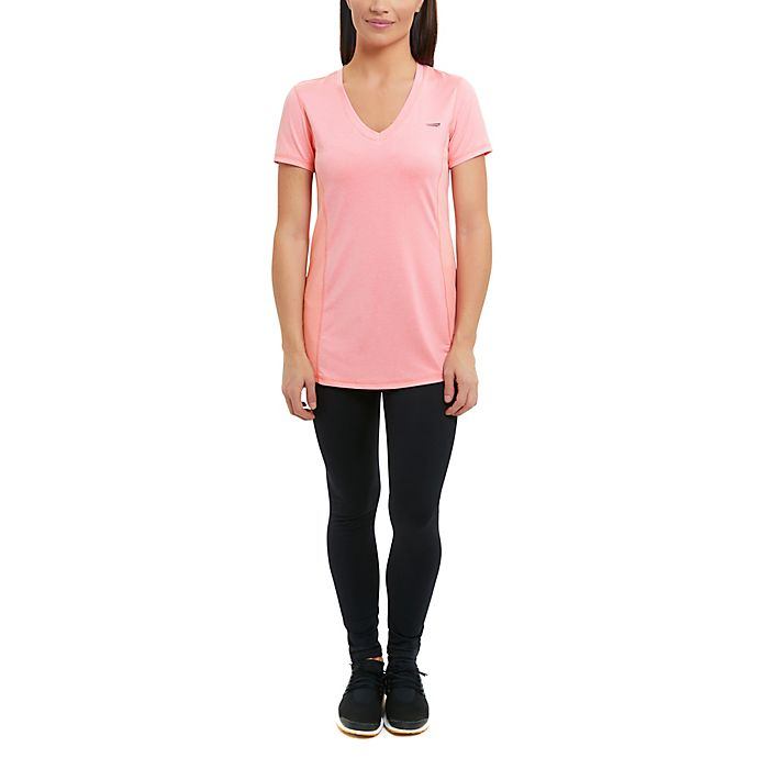 Alternate image 1 for Copperfit Compression Side Panel Small V-Neck T-Shirt in Pink