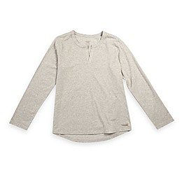 Copper Fit® Replenish Recovery Mini Henley Sleep Shirt in Oat