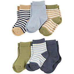 Touched by Nature 6-Pack Boys Organic Cotton Socks in Blue