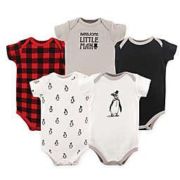 Hudson Baby® 5-Pack Penguin Bodysuits