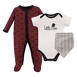Hudson Baby® 3-Piece Little Man Layette Set