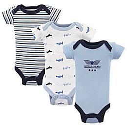 Luvable Friends® Preemie 3-Pack Airplane Short Sleeve Bodysuits